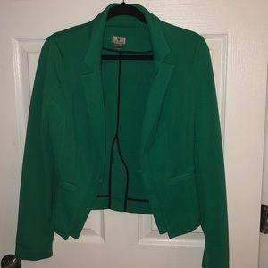 Kelly green tailored blazer